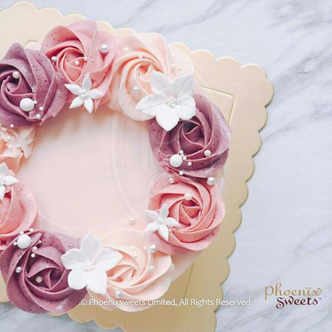 "6"" Lychee Rose Swirl Birthday Cake for Kid's Birthday and Baby Shower 立體 生日蛋糕 3D Cake"