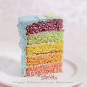 Water Colour Peony Cake for Kid's Birthday and Baby Shower 立體 生日蛋糕 3D Cake Rainbow
