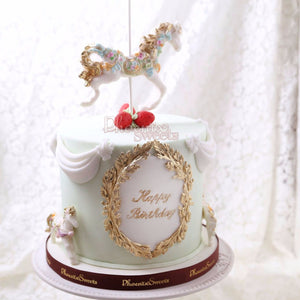 Carousel Cake Tower for Kid's Birthday and Baby Shower 立體 生日蛋糕 3D Cake