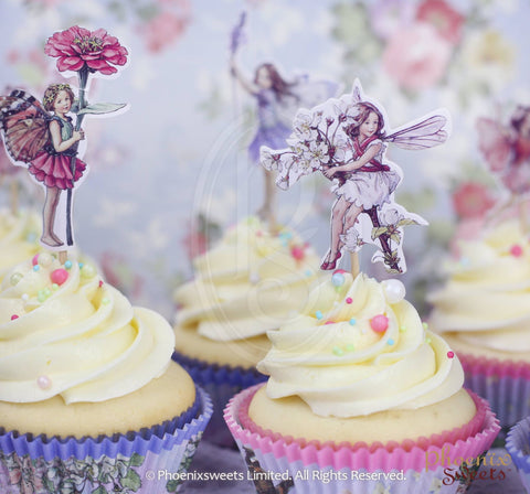 Cupcake Decoration Set - Flower Fairy (Not including cupcake)