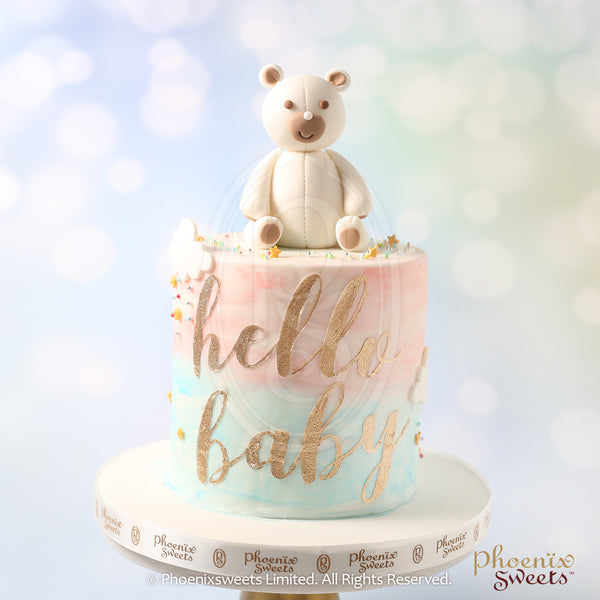 網上訂購Phoenix Sweets Fondant Cake - Hello Baby Cake 香港生日蛋糕結婚蛋糕 Order Phoenix Sweets Hong Kong Fondant Cake - Hello Baby Cake Birthday Cake and Wedding Cake to celebrate birthday and wedding Cake, Elegant Ladies, Featured Products, Fondant Cake, Hong Kong, Kid's Birthday, Online Store