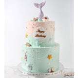 Butter Cream Cake - Mermaid Cake (2 tiers)