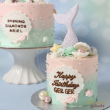 網上訂購Phoenix Sweets Mini Butter Cream Cake - Mermaid Cake 香港生日蛋糕結婚蛋糕 Order Phoenix Sweets Hong Kong Mini Butter Cream Cake - Mermaid Cake Birthday Cake and Wedding Cake to celebrate birthday and wedding Butter Cream Cake, Cake, Elegant Ladies, Featured Products, Kid's Birthday, Mini Cake, Online Store