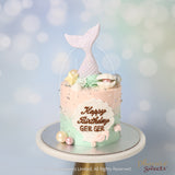 Mini Butter Cream Cake - Mermaid Cake