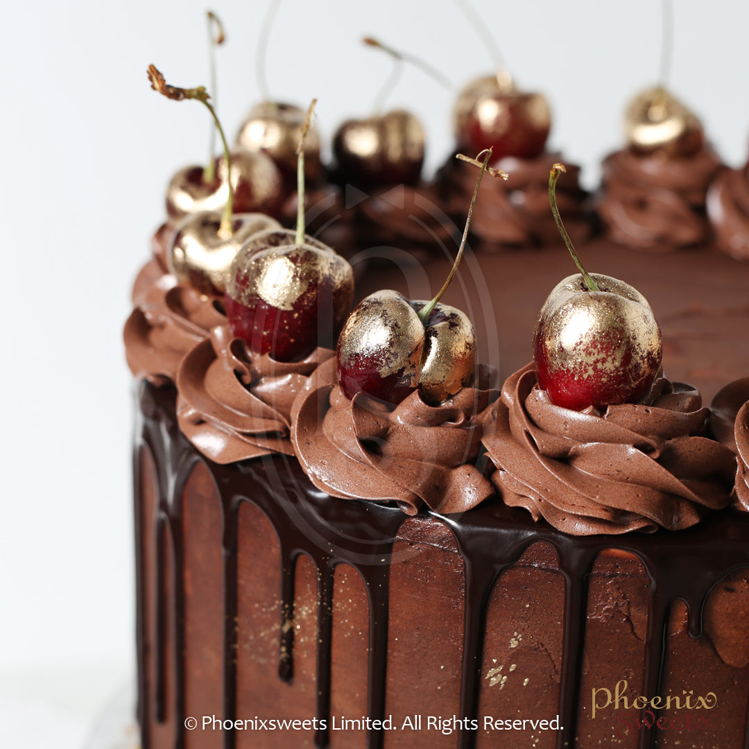 Butter Cream Cake - Golden Cherry Chocolate