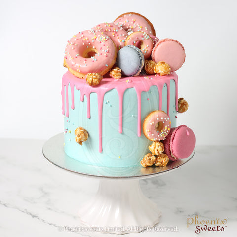 Butter Cream Cake - Colour Bomb Cake