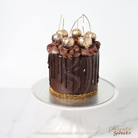 Mini Butter Cream Cake - Golden Cherry Chocolate