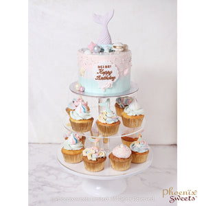 Themed Party Combo - Mermaid Cake and Cupcake Tower