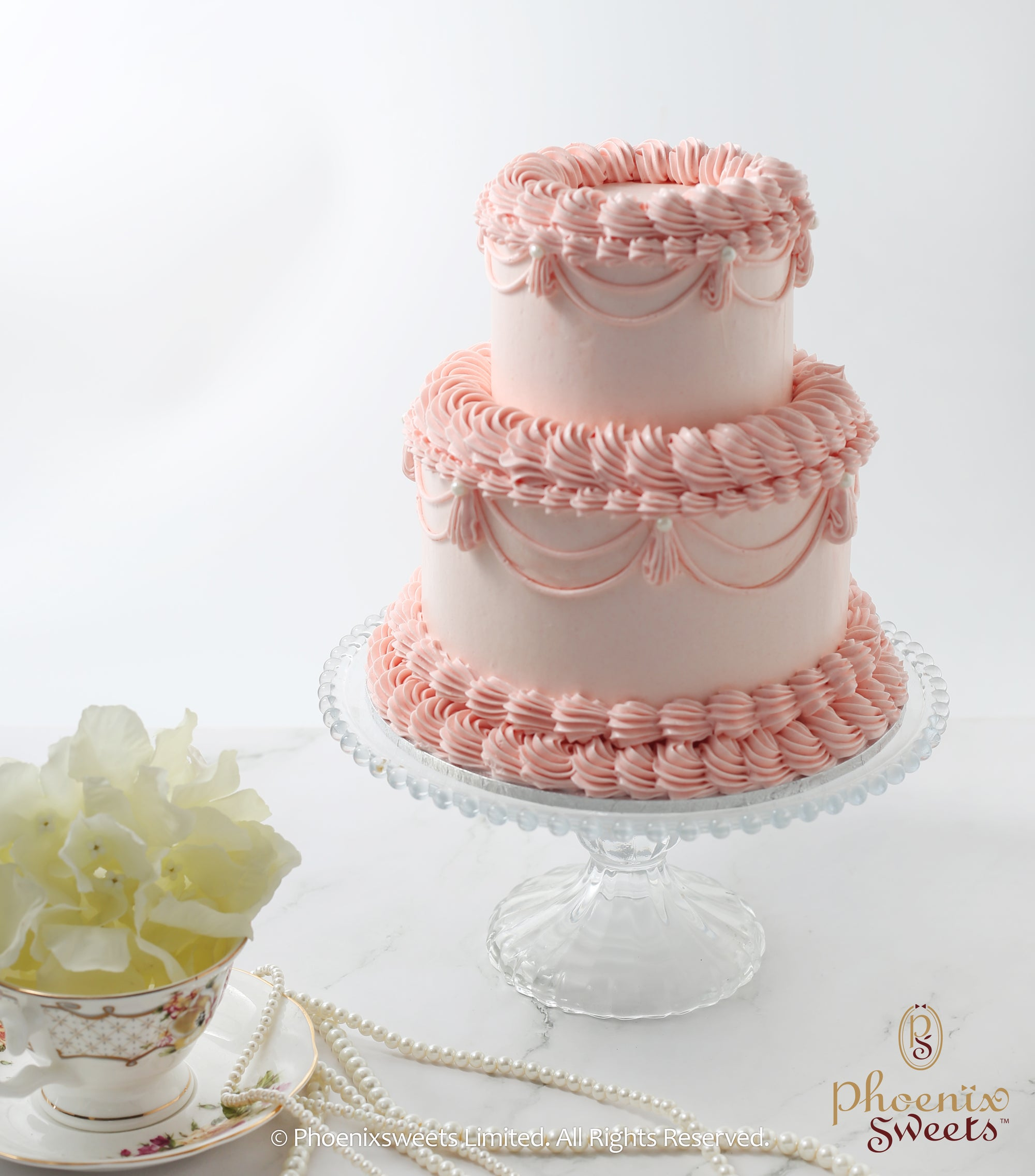 Butter Cream Cake - Vintage (2 tiers)