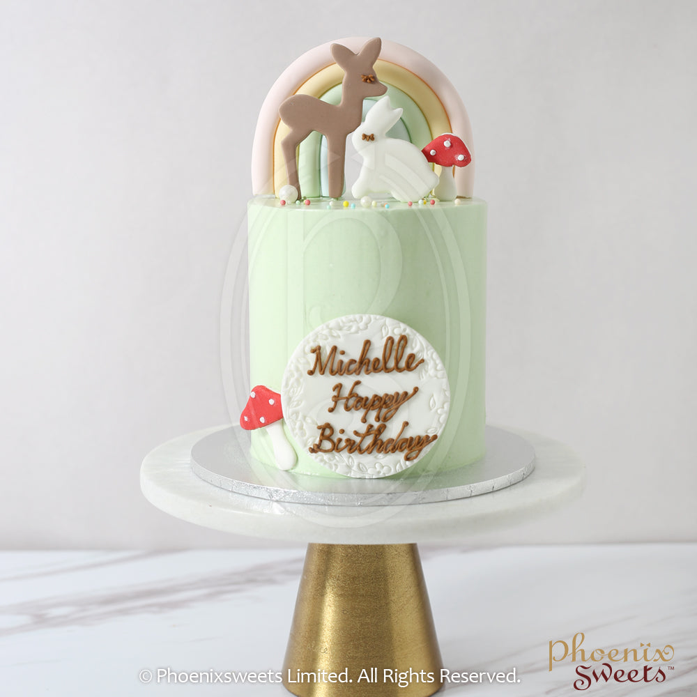 Mini Butter Cream Cake - Woodland