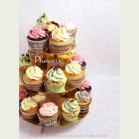 Phoenix Sweets 散水餅 曲奇 Order cupcake goodbye gift 轉工 網上訂購 送貨 delivery Hong Kong 香港 Cupcake Tower Upgrade - Regular Cupcake (Cake is not included) Cupcake, Cupcake Tower Upgrade, Online Store, Party Sweets, Phoenix Sweets, Wedding