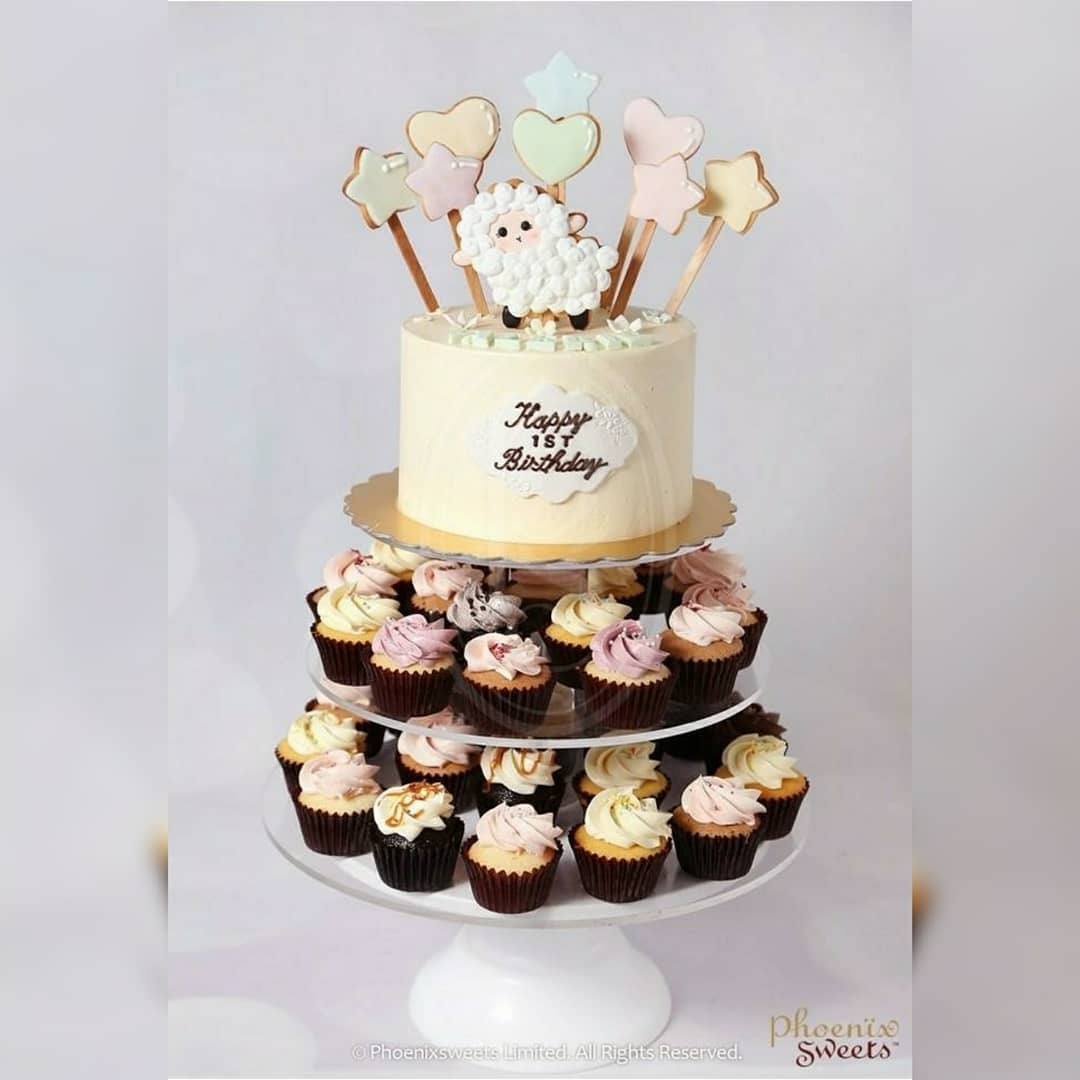 Mini Cupcake Tower for Kid's Birthday and Baby Shower 立體 生日蛋糕 3D Cake