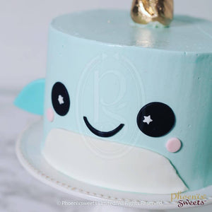 Butter Cream Cake - Baby Whale