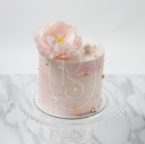 Mini Butter Cream Cake - Peony with Pearl