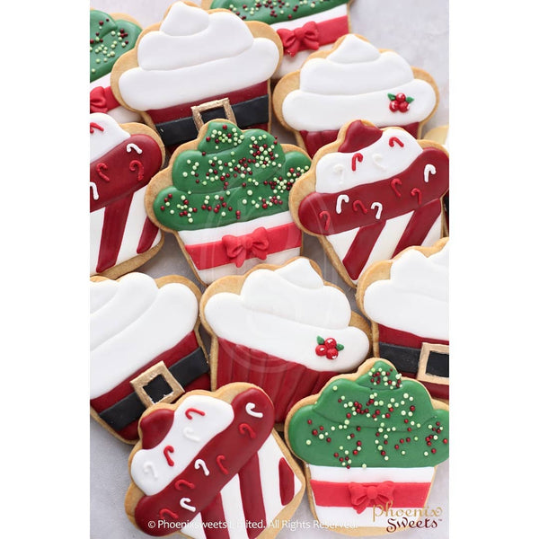 網上訂購Phoenix Sweets 2019 Christmas - 'Cupcake' Cookie 散水餅 轉工 Order Phoenix Sweets 2019 Christmas - 'Cupcake' Cookie for goodbye gift 2019, Cookie, Featured Products, Goodbye Gift, Handpaint Cookie, Party Sweets, Seasonal Gift
