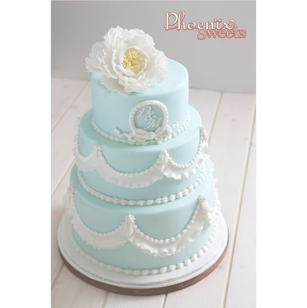 網上訂購Phoenix Sweets Fondant Cake - Daphne Wedding Cake 結婚 甜點檯 回禮小禮物 伴手禮 Order Phoenix Sweets Fondant Cake - Daphne Wedding Cake to celebrate wedding candy corner dessert table souvenirs 2 tiers, 3 tiers, Cake, Fondant Cake, Online Store, Wedding