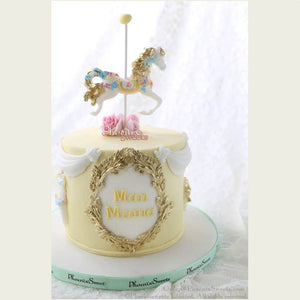 Carousel Cake for Kid's Birthday and Baby Shower 立體 生日蛋糕 3D Cake