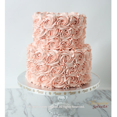 Butter Cream Cake - Rose Swirl (2 tiers)
