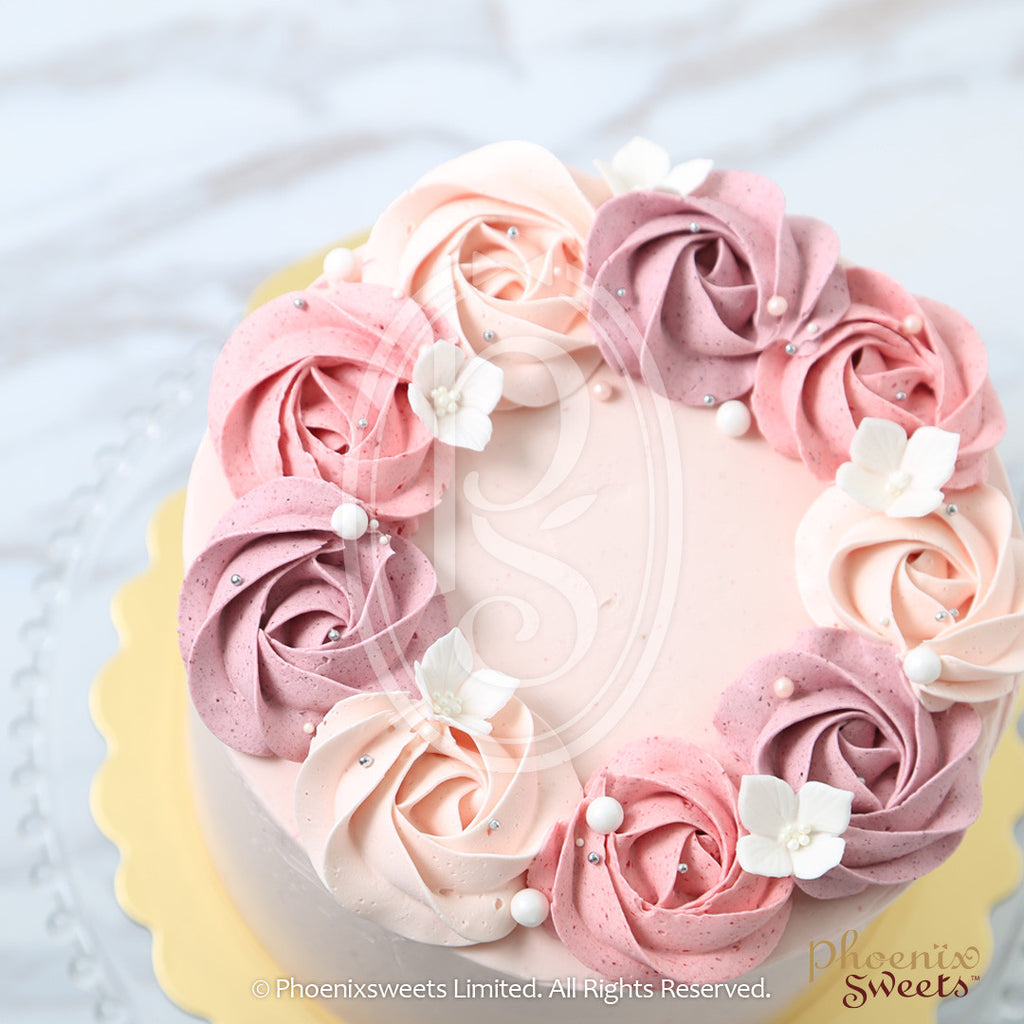 6 Quot Lychee Rose Swirl Birthday Cake For Kid S Birthday And