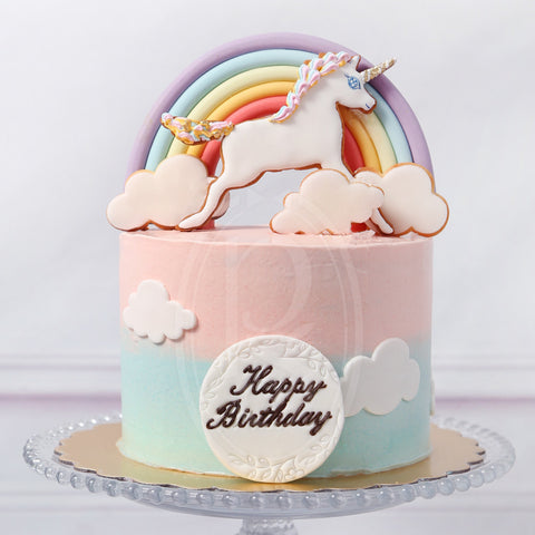 Rainbow Unicorn Birthday Cake for Kid's Birthday and Baby Shower 立體 生日蛋糕 3D Cake
