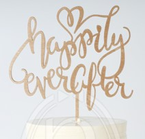 "Wooden ""Happily Ever After"" Signage"