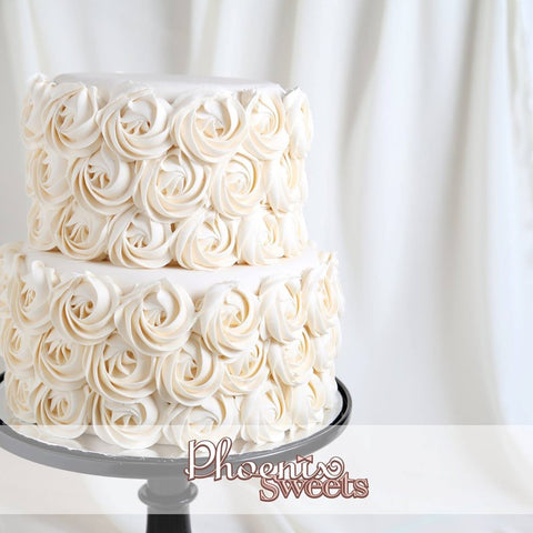 Phoenix Sweets Butter Cream Cake - Rose Swirl Wedding Cake