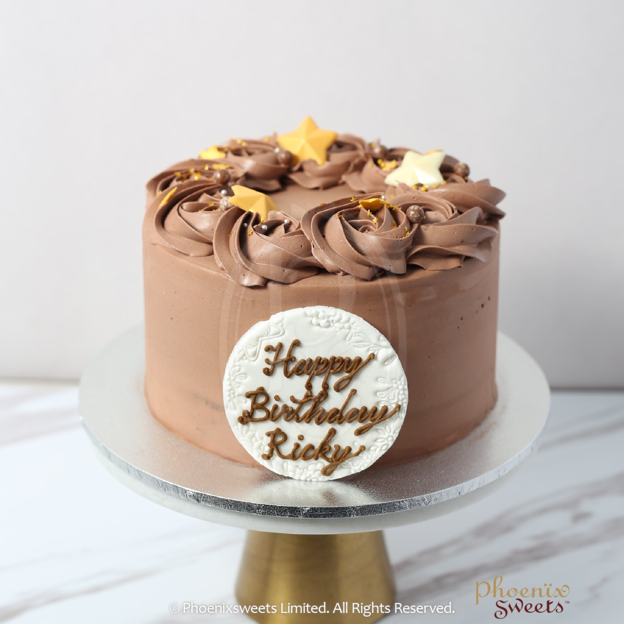 Butter Cream Cake - Chocolate Rose Swirl