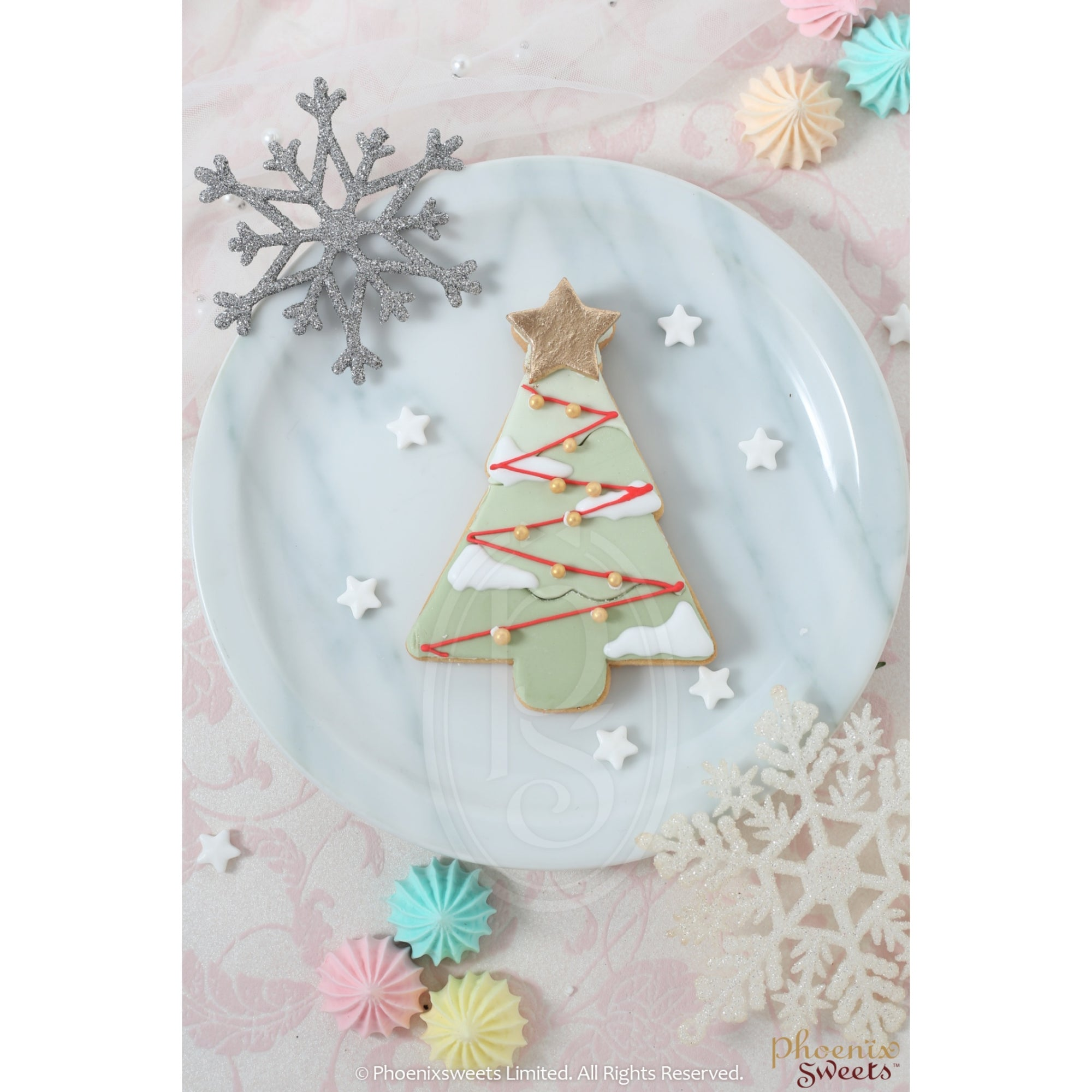2020 Christmas - Christmas Tree Icing Cookie