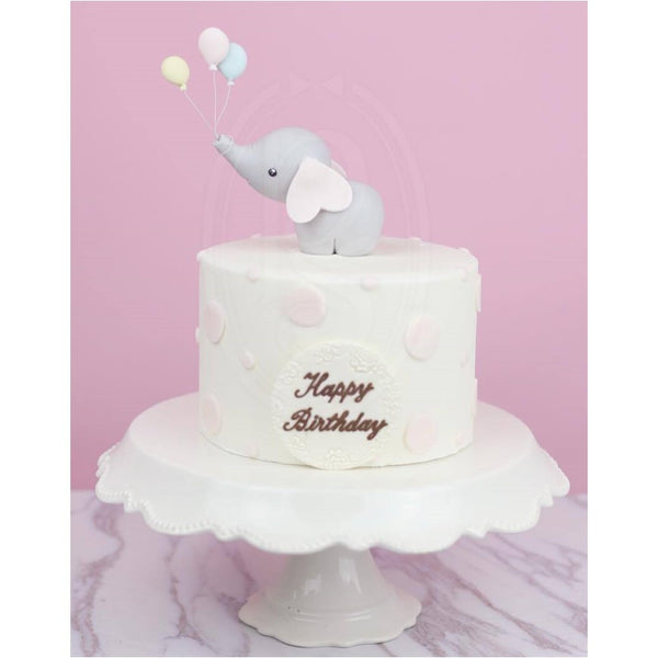 Phoenix Sweets - Sophie the Elephant Birthday Cake 翻糖小象生日蛋糕