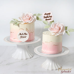 Butter Cream Cake - Water Colour Rose