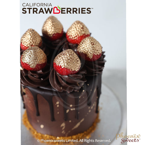 Butter Cream Cake - Golden Strawberry with California strawberry