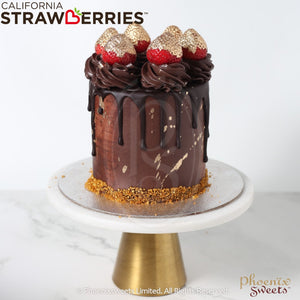 Butter Cream Cake - Golden Strawberry