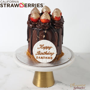 Mini Butter Cream Cake - Golden Strawberry