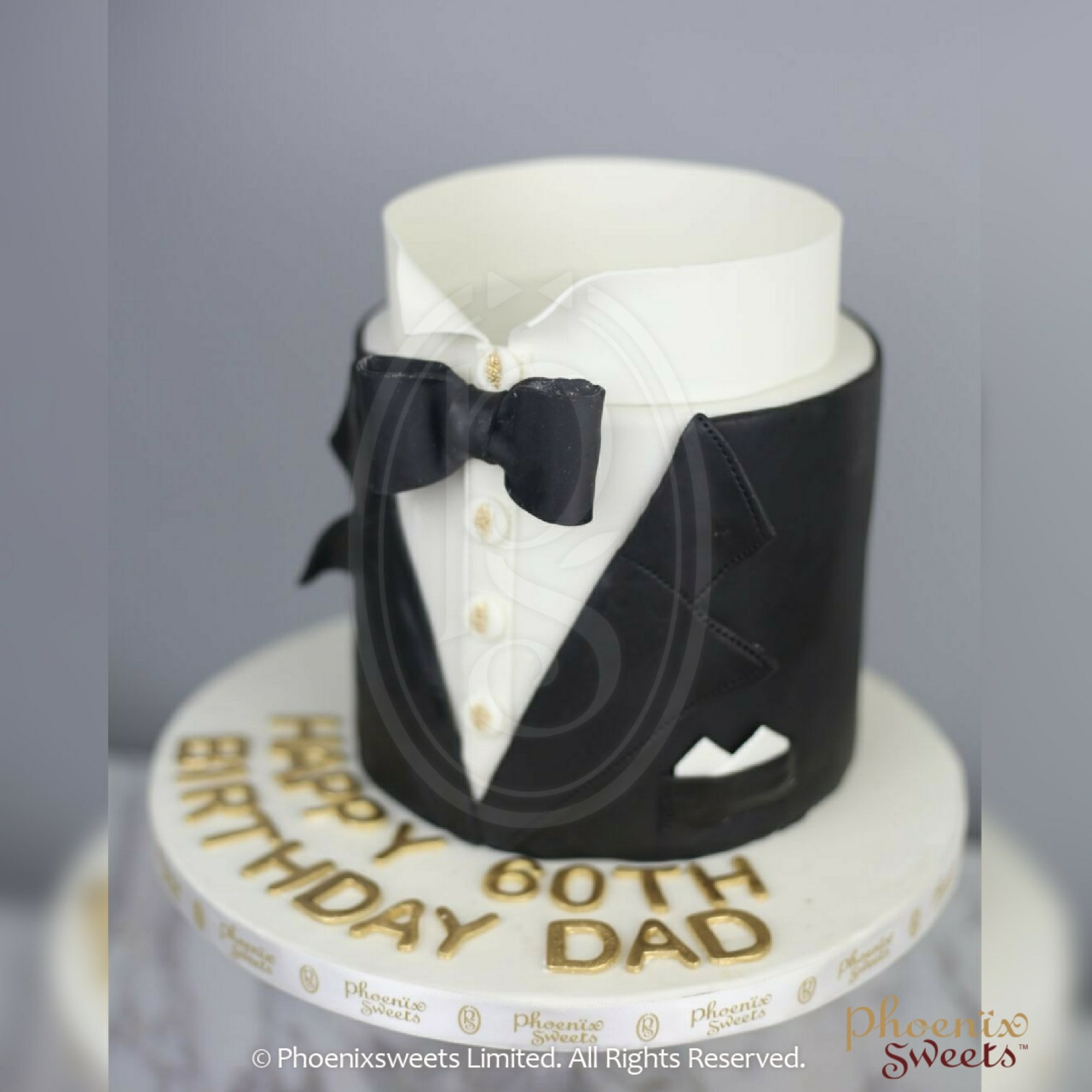 Phoenix Sweets Tuxedo Cake for Gentleman Dad Husband Boyfriend