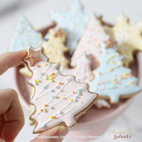 2018 Fairy Christmas - Christmas Tree Icing Cookie