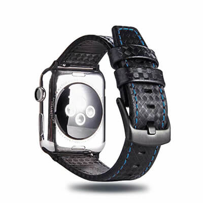Carbon Fiber Style Leather Band