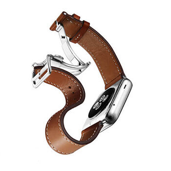 Deployment Buckle Leather Band