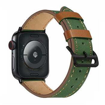 Contrast Apple Watch Leather Band