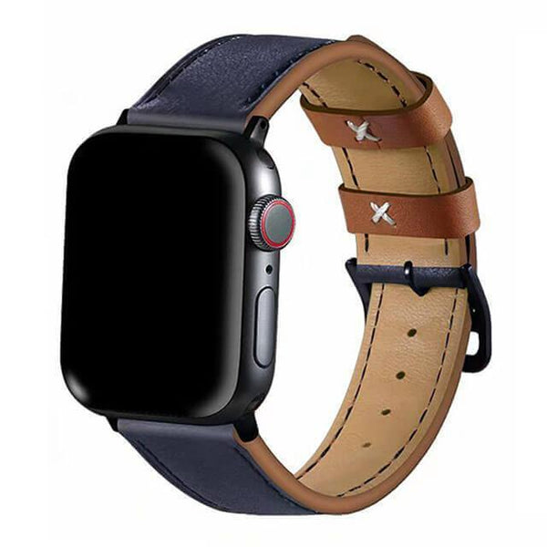Contrasting Tone Leather Apple Band