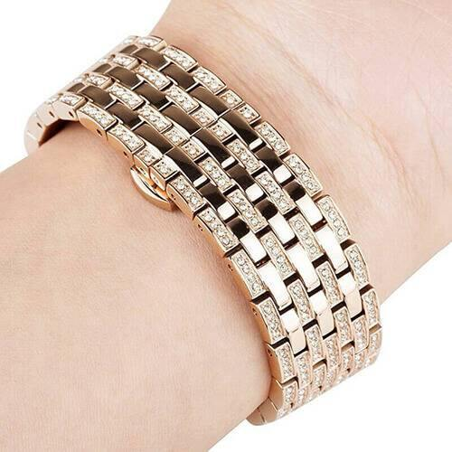 Diamond Stainless Steel Bracelet Band