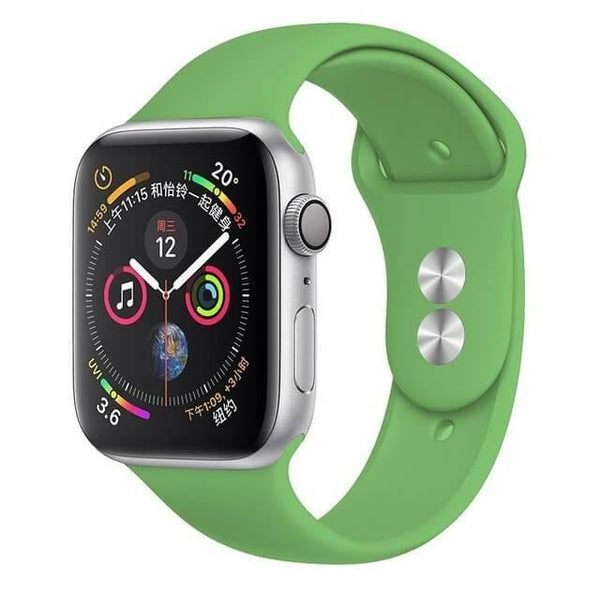 Double Buckle Silicone Apple Band