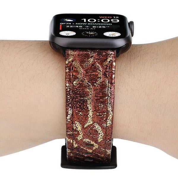 Python-Embossed Leather Band