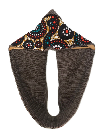 Brown Dots Scarf - Qiim
