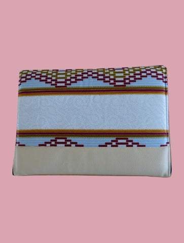 Beige Aztec Laptop Case - Qiim