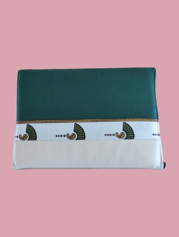 White Eventail Laptop Case