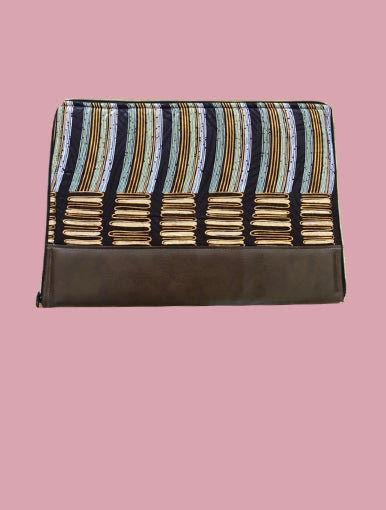 Marron Vibration Laptop Case - Qiim