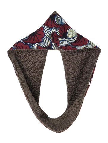 Brown Sibia Scarf - Qiim