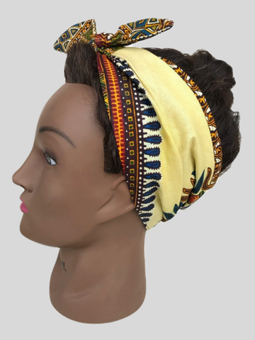 Yellow Dashiki Headband - Qiim