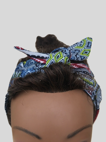 Blue Dashiki Headband - Qiim