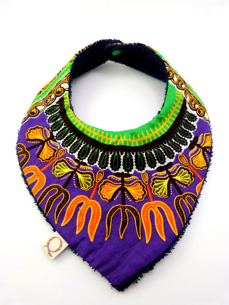 Purple Dashiki Bandana Bib - Qiim